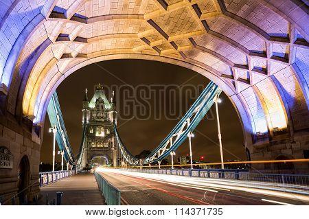 On the Tower Bridge of London
