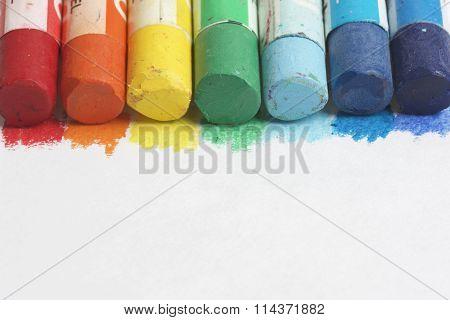 Set pastel art on a white background