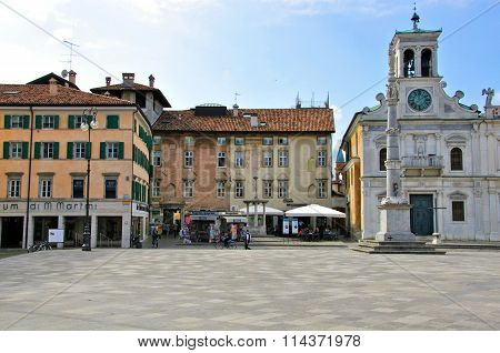 Ancient Square In Italian City