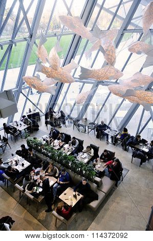 The Cafeteria Of The Modern Art Museum Of The Louis Vuitton Foundation