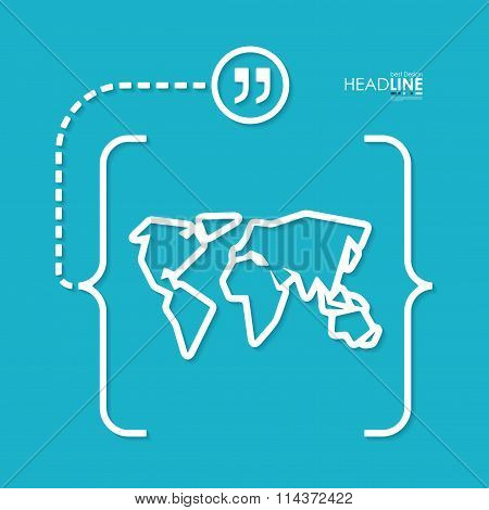 business abstract signwith brackets
