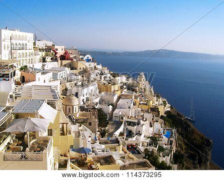Santorini island view Greece