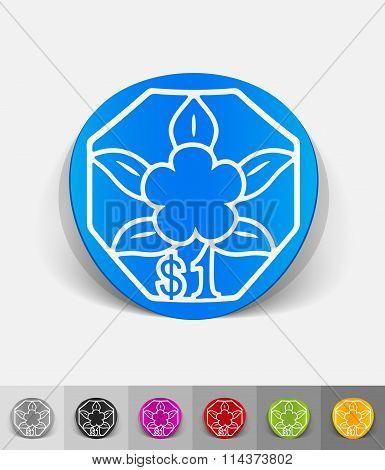 realistic design element. one singaporean dollar