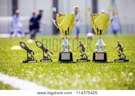Soccer Championship Gold Trophies