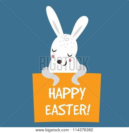 Easter bunny cute vector style
