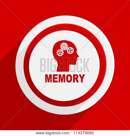 memory red flat design modern vector icon for web and mobile app