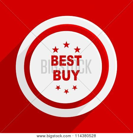 best buy red flat design modern vector icon for web and mobile app