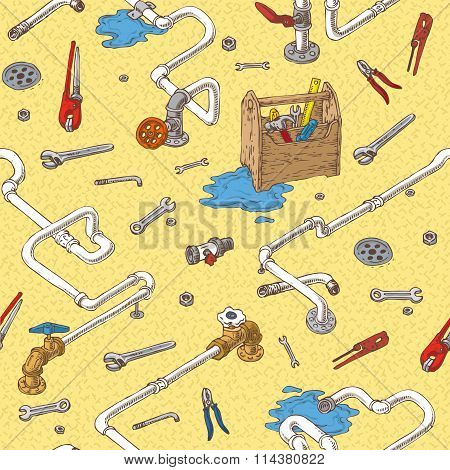 Sanitary Engineering Seamless Pattern