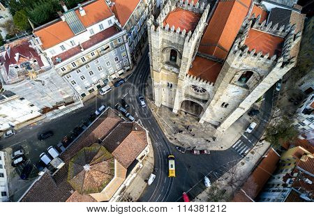Santa Maria Maior (or Se Cathedral) the oldest church in the city of Lisbon, Portugal