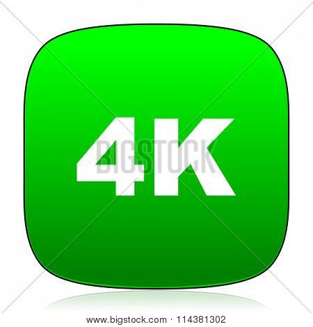 4k green icon for web and mobile app