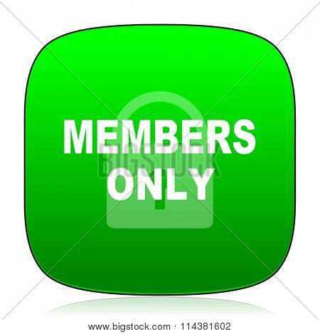 members only green icon for web and mobile app