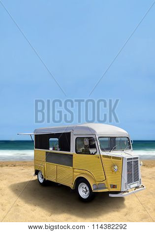 Food Truck On The Beach