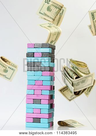 Jenga Game With Money