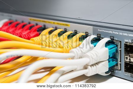 Patching cords connected