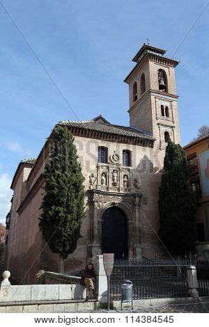 Church of Santa Anna.Granada. Spain.