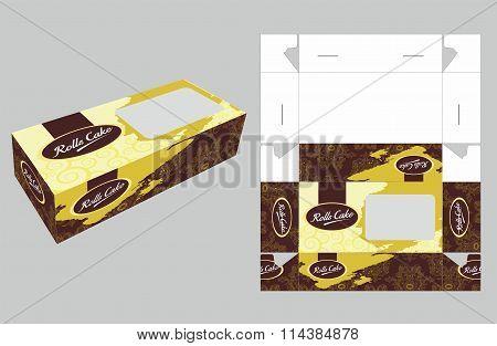 Elegant Rolls Cake Box