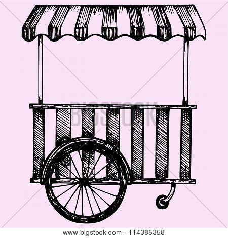 Street fast food cart