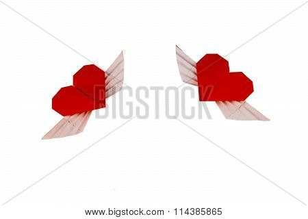 Origami Heart with Wings.