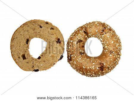Whole and half Muesli Bagel