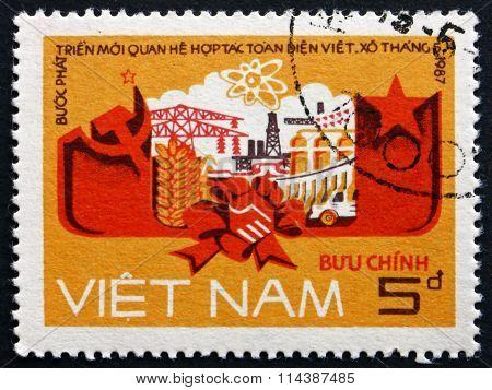 Postage Stamp Vietnam 1987 Vietnam-soviet Union Cooperation