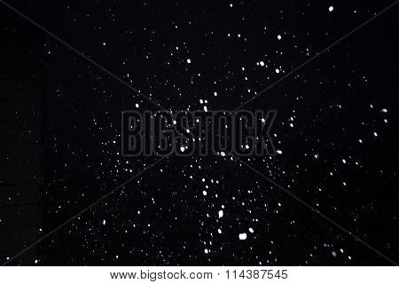 Snowflakes On Dark Sky