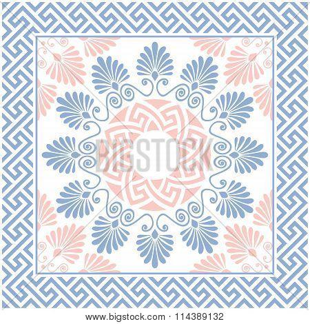 vector Greek floral ornament, Meander