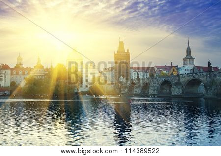 Prague at sunrise