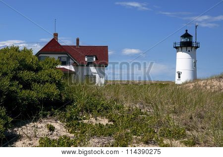 Summer at Race Point Lighthouse In Cape Cod