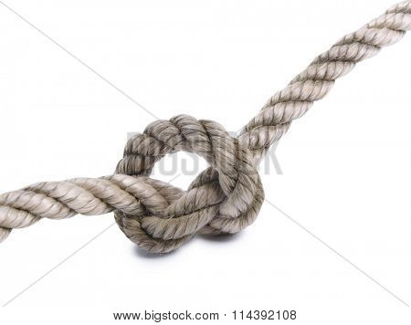 Coil of rope on a white background