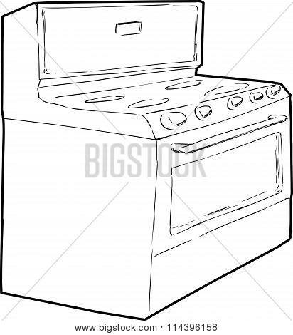 Generic Single Induction Stove Outline