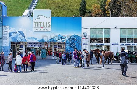 Entrance Of The Cable Car Station In Engelberg, Switzerland