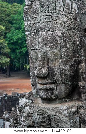 Stone Face In Bayon Temple, Angkor Wat