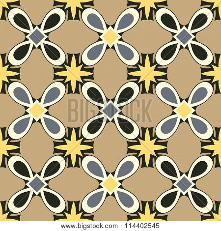 seamless floral pattern, vector background