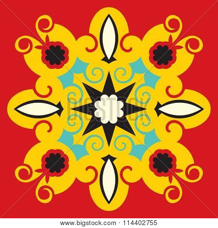 abstract floral decoration, vector design element