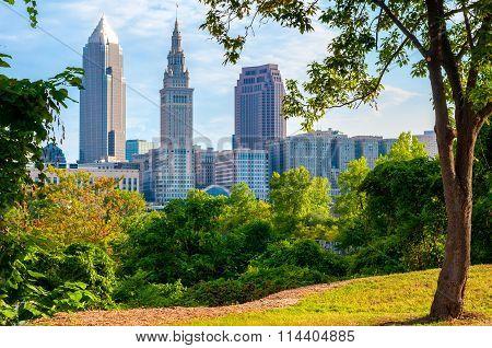 Tree-framed Cleveland