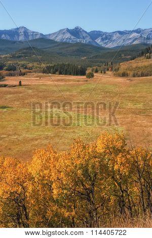 Autumn Where Praire Meets Mountains