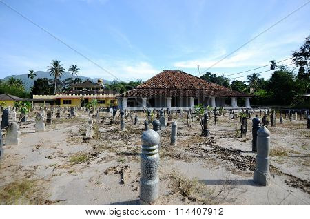 The Old Mosque of Pengkalan Kakap in Merbok, Kedah