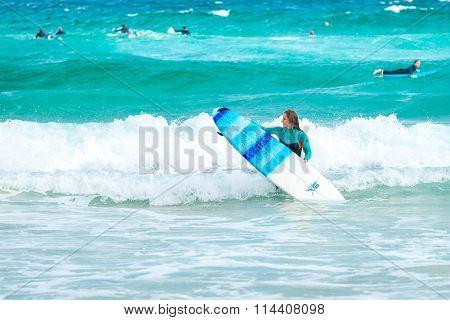 Surfer Girl At Bondi Beach