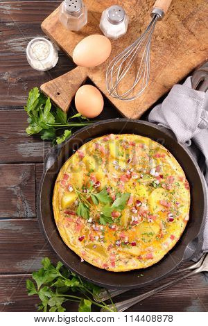 omelet, spanish tortilla