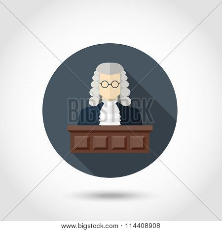Judge flat icon