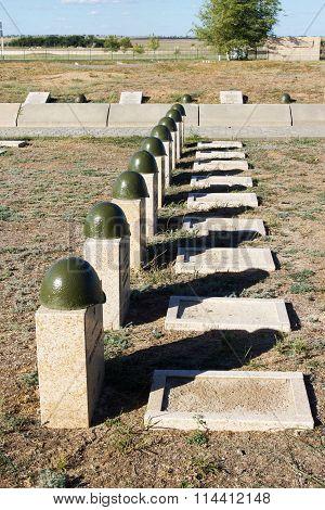 Graves On The Soviet Cemetery Of Rossoshk. Volgograd, Russia