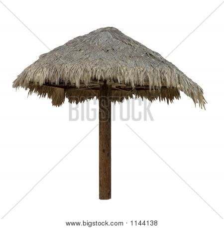 Palapa, Thatched Umbrella - Isolated