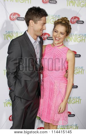 Topher Grace and Teresa Palmer at the Los Angeles Premiere of