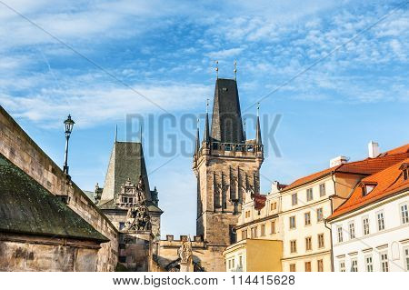 Lesser Town Bridge Tower In Prague, Czech Republic