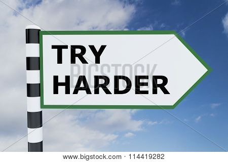 Try Harder Concept
