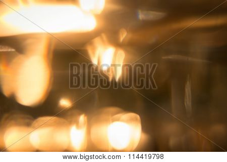 Abstract Gold Light Glitter Glowing For Celebration Festive Background