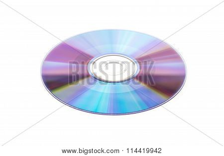 Compact Disc On A White Background