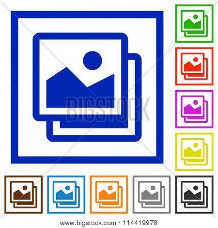 Images Framed Flat Icons