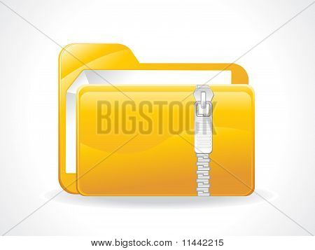 Abstract Glosy Zipped Folder Icon