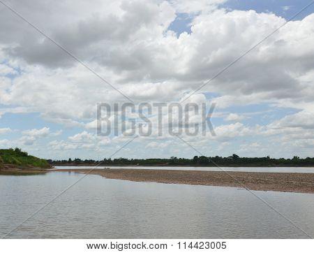 Mekong River landscape in Thailand